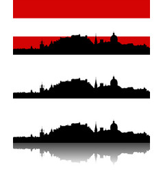 silhouette of salzburg vector image vector image