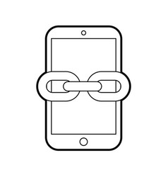 Smartphone device with chain vector