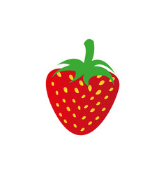 strawberry fruit icon stock vector image vector image