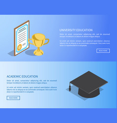 University and academic education internet page vector