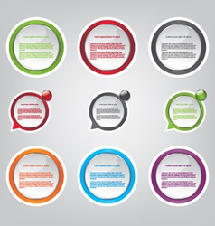 Web bubble icons vector image vector image