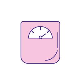 weight machine instrument to measure of kilogram vector image vector image