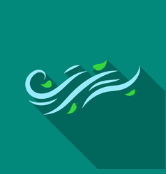 windy weather icon in flate style isolated on vector image