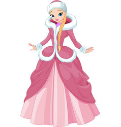 Winter princess vector