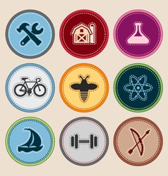 Merit badges vector