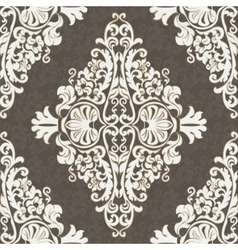Classic rococo ornament design vector