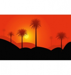 Palms in desert vector