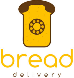 Bread delivery concept with phone vector
