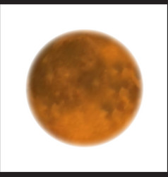 Moon realistic yellow planet isolated heavenly vector