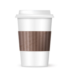 Modern coffee cup vector