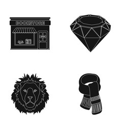 Scarlet secondhand and or web icon in black style vector