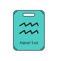 Aquarius sign of the zodiac flat symbol vector