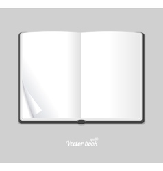 Blank white opened book or magazine vector