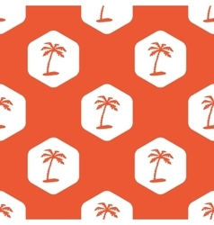 Orange hexagon vacation pattern vector
