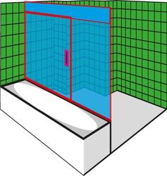 Green Bathroom vector image