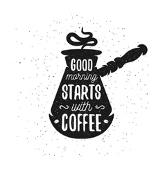 Hand drawn typography coffee poster vector