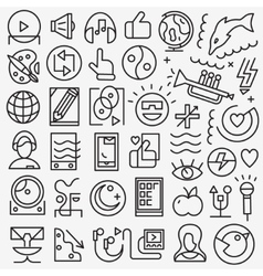 Art web icons vector
