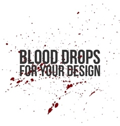 Blood drops texture splatter background vector
