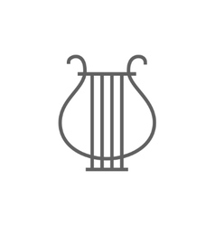 Lyre line icon vector