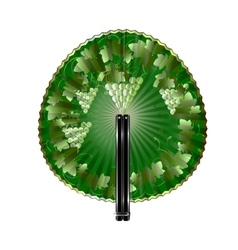 Round fan grape vector