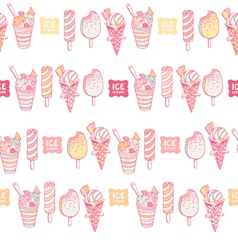 Colorful ice cream seamless vector
