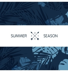 Blue indigo summer tropical hawaiian background vector