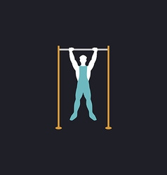 athlete computer symbol vector image vector image