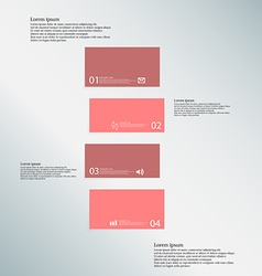 Bar template consists of four red parts on blue vector