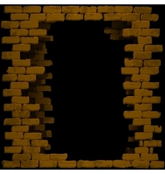 break in a brick wall vector image