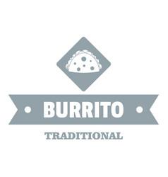burrito logo simple gray style vector image vector image