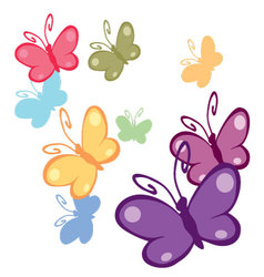 colorful butterflies 2 vector image