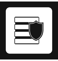 Data security icon simple style vector image vector image