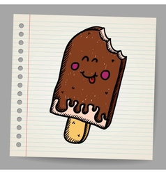 Doodle ice cream dessert style sketch vector image vector image