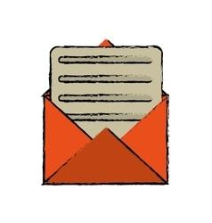 Envelope paper letter email sketch vector