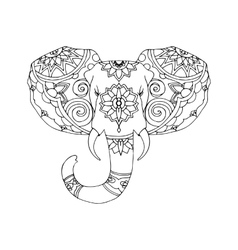 Hand drawn of elephant vector
