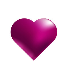 heart in purple tones on a white background vector image