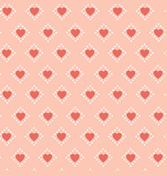 hearts seamless pattern retro background romantic vector image vector image