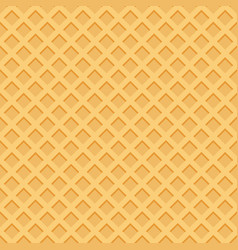 Ice cream pattern wafle texture vector