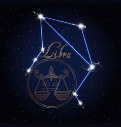 libra astrology constellation of the zodiac vector image vector image
