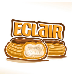 logo for french eclair vector image