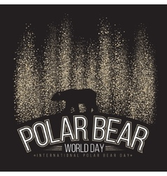 Polar bear on the background of the northern vector image
