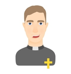 Priest icon cartoon style vector