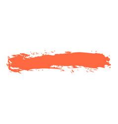 Red paint brush stroke vector