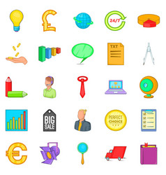 Social relationship icons set cartoon style vector