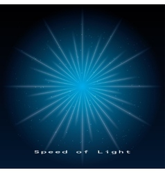 speed of light vector image vector image