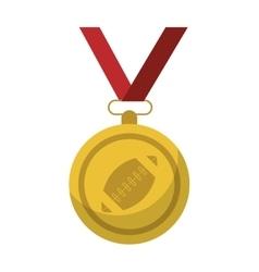 Sport medal ribbon american football vector