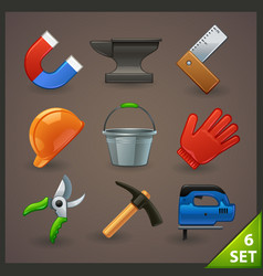 tools icon set-6 vector image