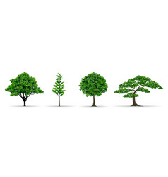 Tree set realistic vector
