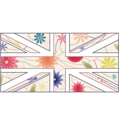 Vintage UK flag 2 vector image vector image