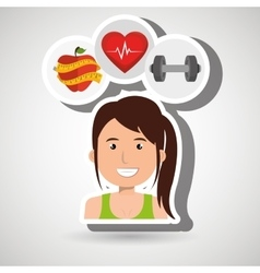 woman sport health icon vector image